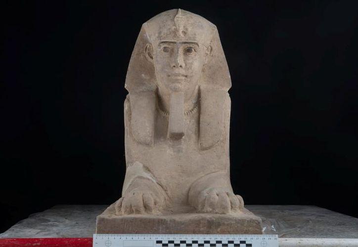 La estatua probablemente date a la época ptolemaica. (AP)