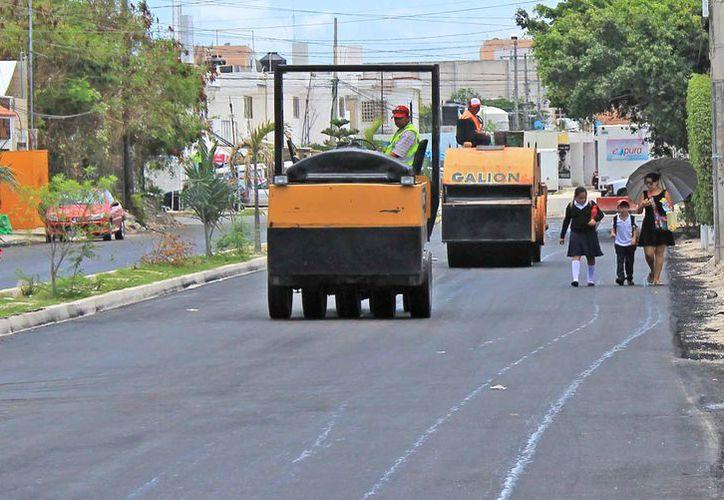 Los trabajos continúan en algunas calles de la región. (Jesús Tijerina/SIPSE)