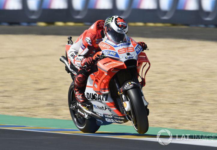 Jorge Lorenzo en la competencia en Francia. (Medio Tiempo)