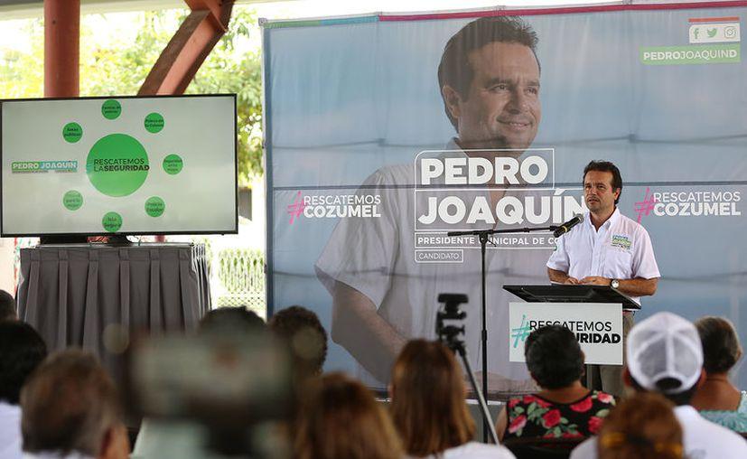 Pedro Joaquín aseguró se buscará trabajar de la mano con el Gobierno Federal y Estatal, las Fuerzas Armadas y la participación de la ciudadanía, como base principal. (Redacción/SIPSE)