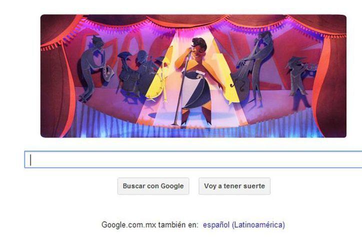 La gran dama del jazz es recordada por Google, como una de las voces femeninas más emblemáticas del género musical. (Captura de pantalla google.com)