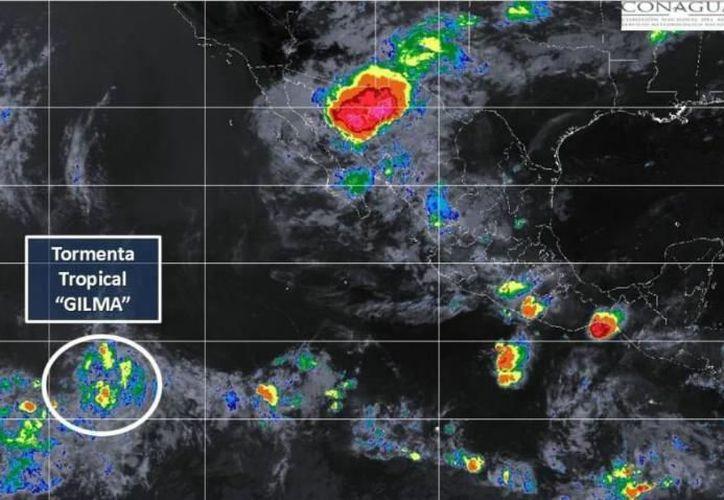 El fenómeno meteorológico se ubica en  el Océano Pacífico. (Conagua)