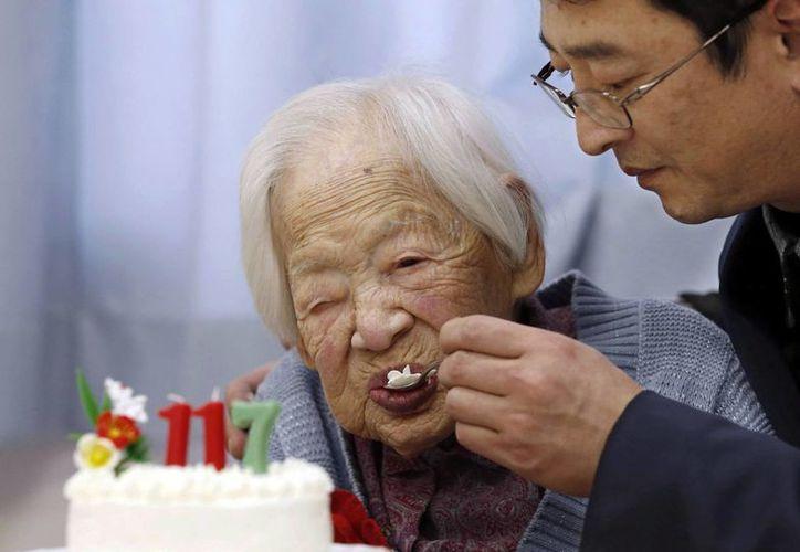 Misao Okawa cumplió 117 años a principios de marzo. (Agencias)