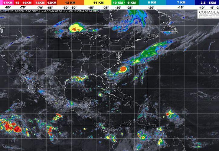 Se prevé un cielo medio nublado durante el día, por la tarde se prevén intervalos de chubascos en la región. (Conagua)
