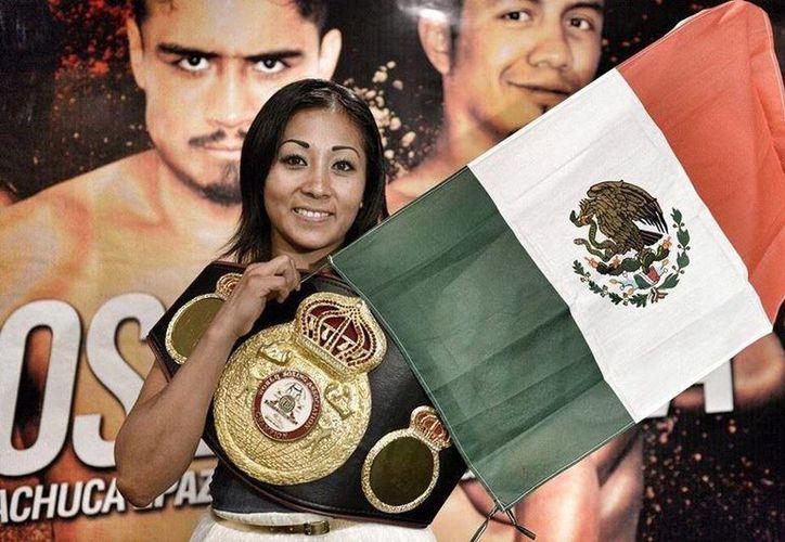 """La boxeadora mexicana Anabel 'Avispa' Ortiz defendará el título paja de la Asociación Mundial de Boxeo (AMB) contra la estadounidense Jolene Blackshear. (Facebook Escuela De Boxeo Anabel La """"avispa Ortiz"""")"""