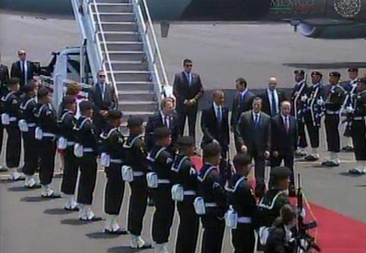 El presidente de EU, Barack Obama, inició hoy su visita de dos días a México. (Presidencia)