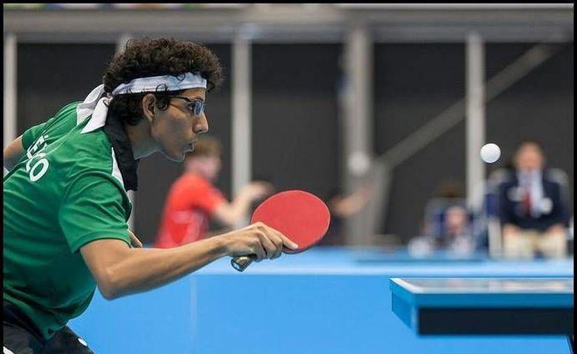 Miguel Lara Escalante es el primer yucateco en participar en un campeonato preolímpico de tenis de mesa, en busca de un boleto a la justa deportiva. (Facebook: Miguel Lara Escalante)