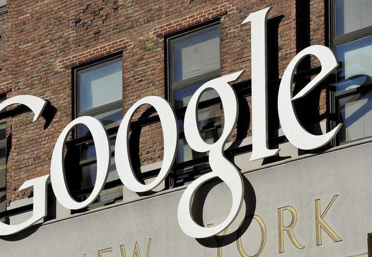Vista del logotipo de Google, en la sede de su empresa en Nueva York, EU. (Archivo/EFE)