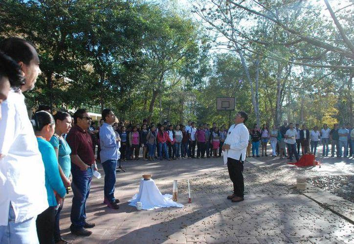 La ceremonia fue para desear éxito en el curso escolar. (Tony Blanco/ SIPSE)