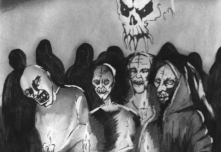 Extraños seres que en realidad son almas en pena aparecen en las milpas en las épocas de finados. (Jorge Moreno/SIPSE)