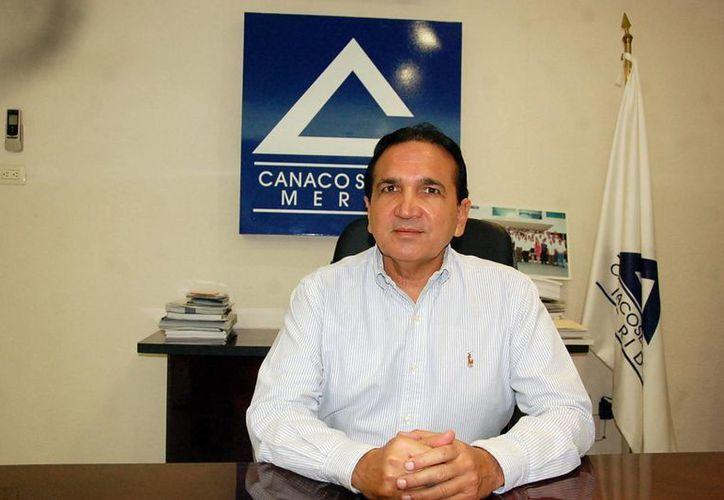 José Manuel López Campos, dirigente de la Canaco Mérida. (Milenio Novedades)