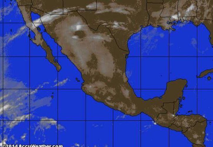 Remanentes del frente frío número 46, ubicados en la Península de Yucatán ocasionarán viento fresco. (www.accuweather.com)