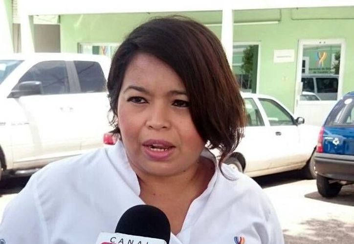 Imagen de Anahí Pech Núñez, responsable de urgencias epidemiológicas y desastres de la SSE, habló sobre los casos de conjuntivitis. (Milenio Novedades)