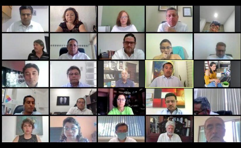 Por primera vez la sesión del Consejo Meridano de Protección Civil se realizó en forma virtual debido a la contingencia. (Novedades Yucatán)