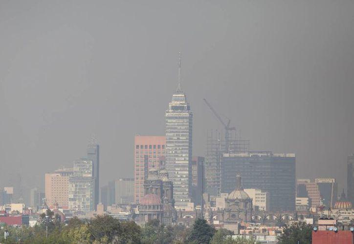 Una densa capa de humo cubre toda la Ciudad de México desde el lunes. Las autoridades ordenaron aplicar medidas para intentar reducir la contaminación. (EFE)