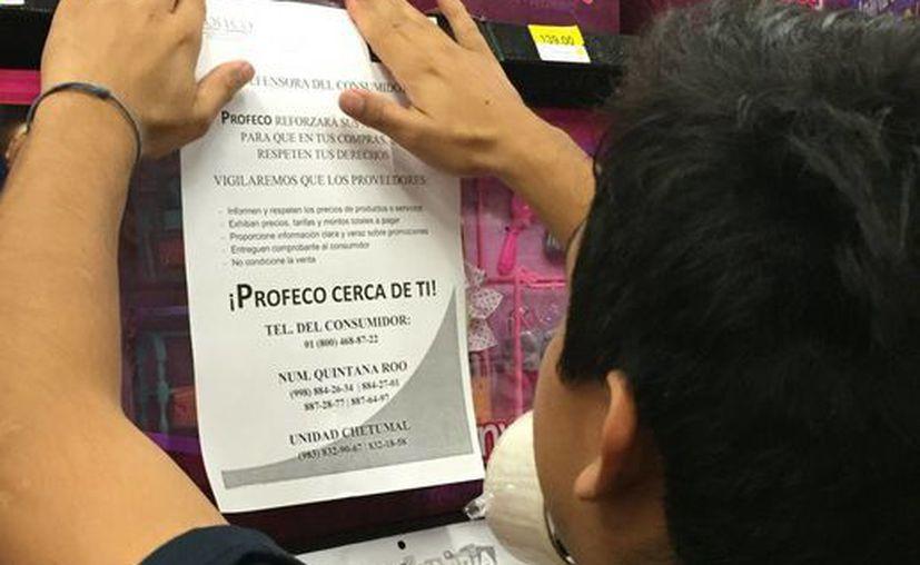 Profeco solo realizó la aplicación de un sello de suspensión y realizó una inmovilización de un producto. (Ángel Castilla/SIPSE)
