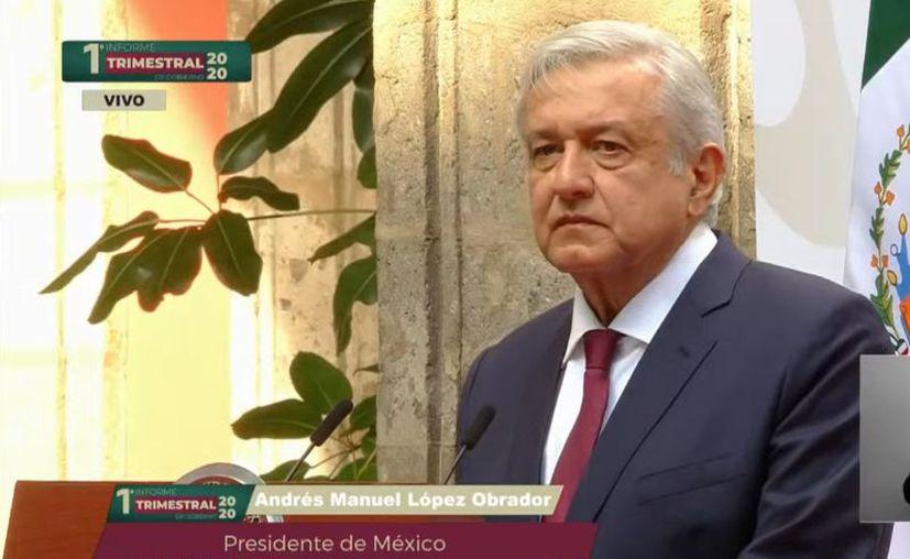 El Presidente AMLO rindió su V Informe al pueblo. haciendo énfasis en la reactivación económica del país. (Foto: Presidencia).