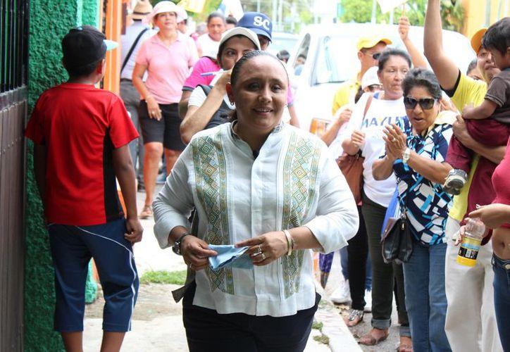 El Sindicato de Trabajadores de la Construcción anunció que la labor de Cristina Torres ha motivado a sus integrantes. (Adrián Barreto/SIPSE)