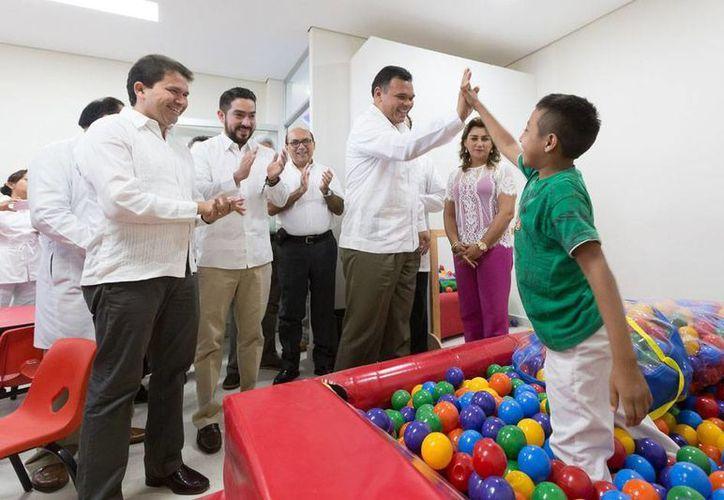 El Gobierno inauguró una nueva etapa del Hospital de la Amistad Corea-México: el Centro de Desarrollo Infantil y Estimulación Temprana. (Cortesía)