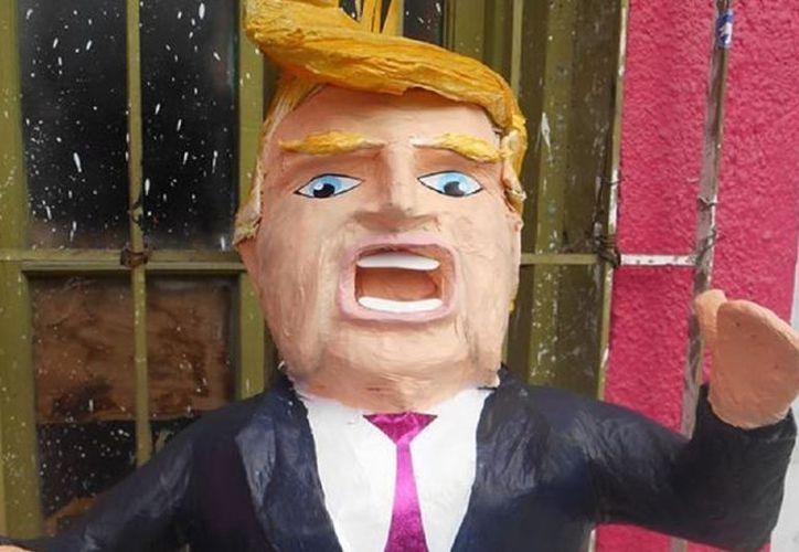 Artículos de toda clase y para los usos más curiosos han sido diseñados en los últimos años inspirados en Donald Trump, como las piñatas. (Twitter)