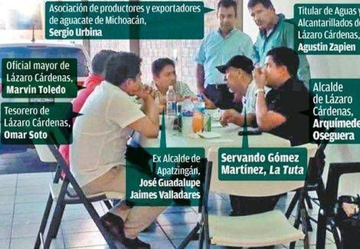Hasta antes de su detención, Oseguera (d) era una de las estrellas ascendentes más notables del PRD michoacano. (Foto especial de Milenio)