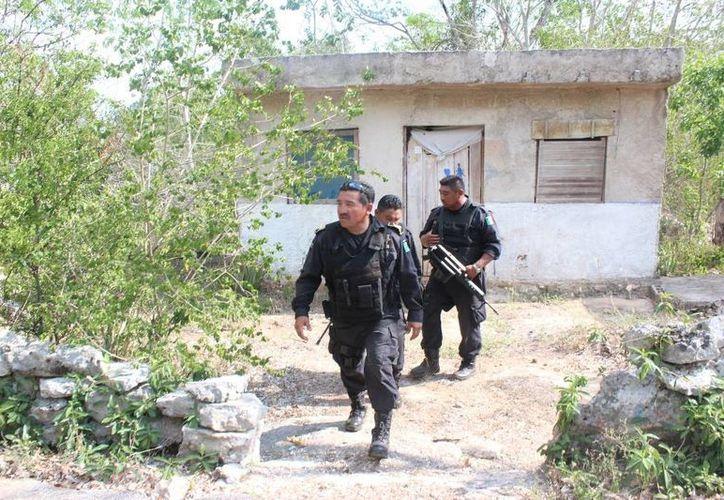 Luego del asalto se montó un intenso operativo en busca de los presuntos delincuentes en varias zonas del oriente de Yucatán. (SIPSE)
