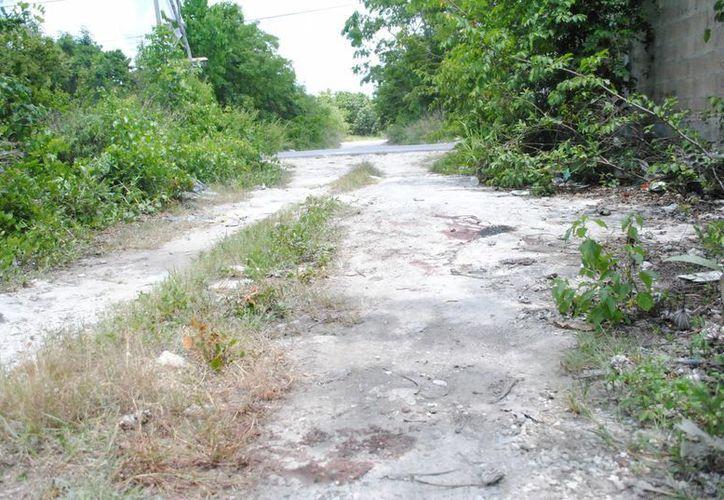 El cuerpo del occiso fue hallado en un área verde. (Redacción/SIPSE)