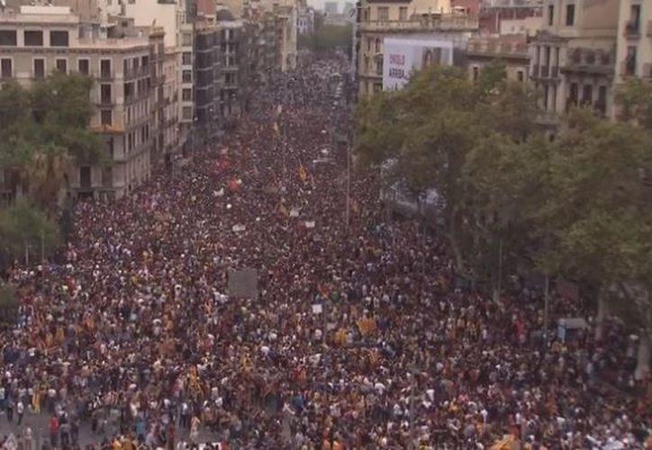 """La huelga general coincide con el denominado """"paro de país"""", convocado por Taula per la Democracia. (RT)"""