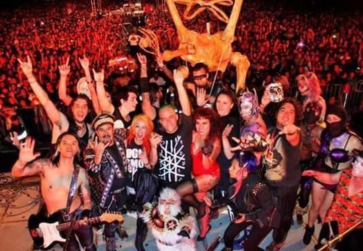 La banda Víctimas del Dr. Cerebro continúa celebrando sus 27 años de trayectoria en el mundo del rock mexicano.(Foto tomada de Facebook/VDC)