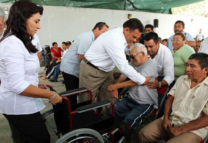 El gobernador Rolando Zapata señala que tiene como propósito mejorar las condiciones de vida de los yucatecos. (Milenio Novedades)