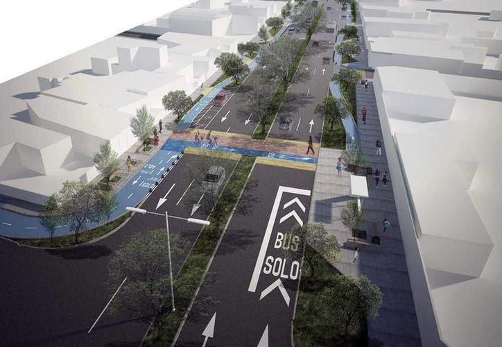 Perspectiva del Proyecto Integral de la calle 50 Sur, una de las tres obras que quedarán listas en seis semanas. (Fotos cortesía del Ayuntamiento)