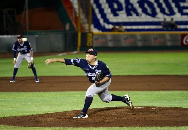 En el pitcheo colectivo Tigres de Quintana Roo se ubica en el tercer peldaño. (Ángel Mazariego/SIPSE)