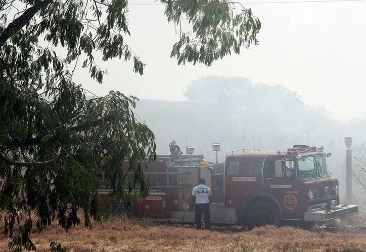 Los bomberos batallaron varias horas para extinguir las llamas en el Periférico. (Milenio Novedades)