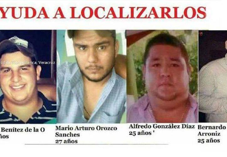 Los cinco jóvenes fueron reportados como desaparecidos por familiares la semana pasada, tras una revisión por parte de policías estatales. (Agencias)