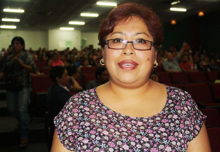 """Maricela Delgado participó con la ponencia """"Seamos Derechos con la Niñez Quintanarroense"""". (Alida Martínez/SIPSE)"""