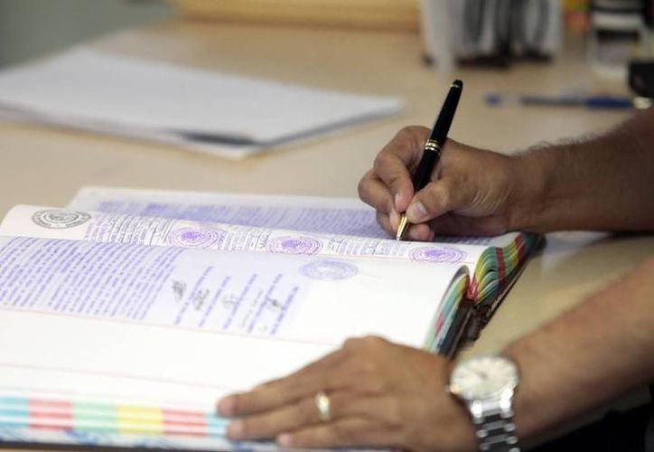 También se realizan testamentos de las personas que viven en el interior del Estado. (Foto: Milenio Novedades)