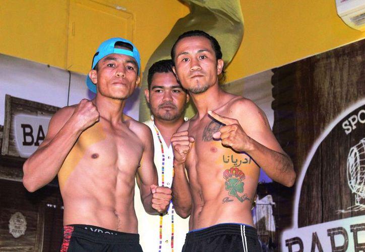 Humberto Morales y Marco Antonio Chablé pelearán en la categoría peso gallo. (Raúl Caballero/SIPSE)