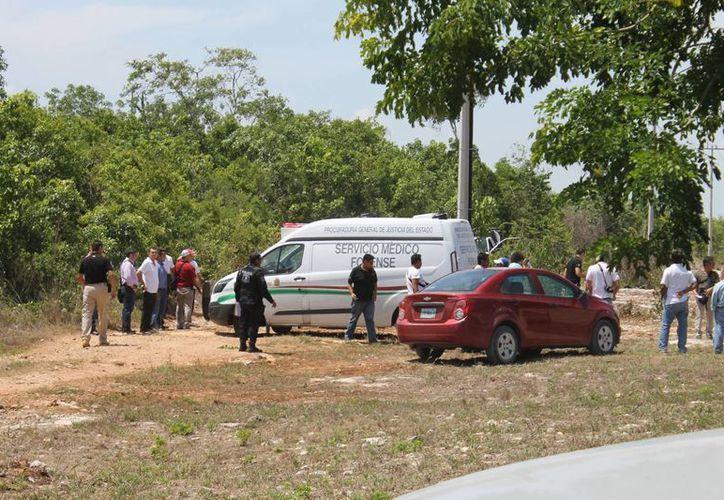 El cuerpo fue hallado en un área verde. (Redacción/SIPSE)
