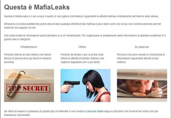 Indican que los autores del sitio deben tener mucho cuidado. (mafialeaks.org)