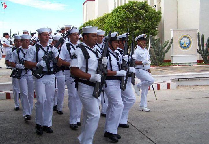 Los Marineros de Infantería del Servicio Militar Nacional no solo serán adiestrados, sino que se les fomentará el nacionalismo, el respeto a los símbolos patrios y el rescate de los valores cívicos militares. (SIPSE)