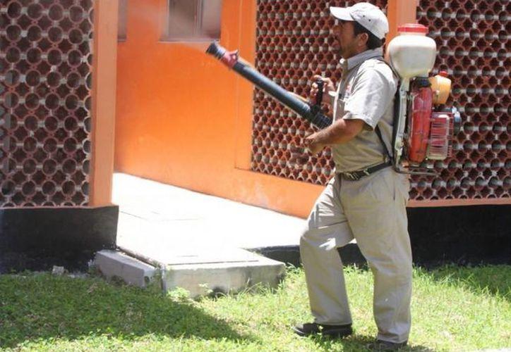 La SESA implementa medidas contra el dengue como la nebulización. (Cortesía/SIPSE)