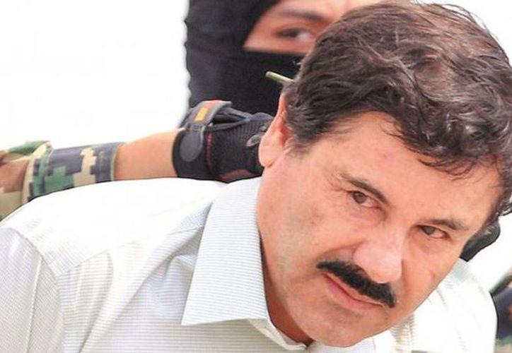 Joaquín El Chapo Guzmán al momento de su presentación a los medios de comunicación el pasado sábado. (Agencias/Archivo)
