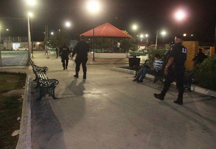Agentes del grupo Goera hicieron rondines por los parques del sur. (Cortesía)