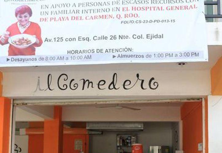 El comedor del Hospital General de Playa del Carmen beneficia a personas de escasos recursos. (Adrián Barreto/SIPSE)