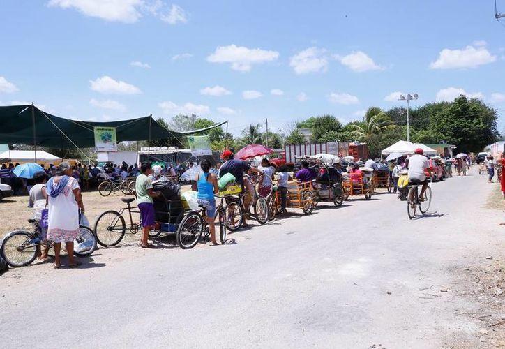 Con la visita a Izamal, 'Recicla por tu bienestar' llegó a un total de 312.8 toneladas de materiales reciclables y cacharros recaudados. (Cortesía)