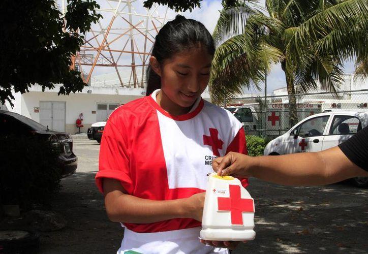 Los voluntarios y colaboradores continúan con el boteo. (Tomás Álvarez/SIPSE)