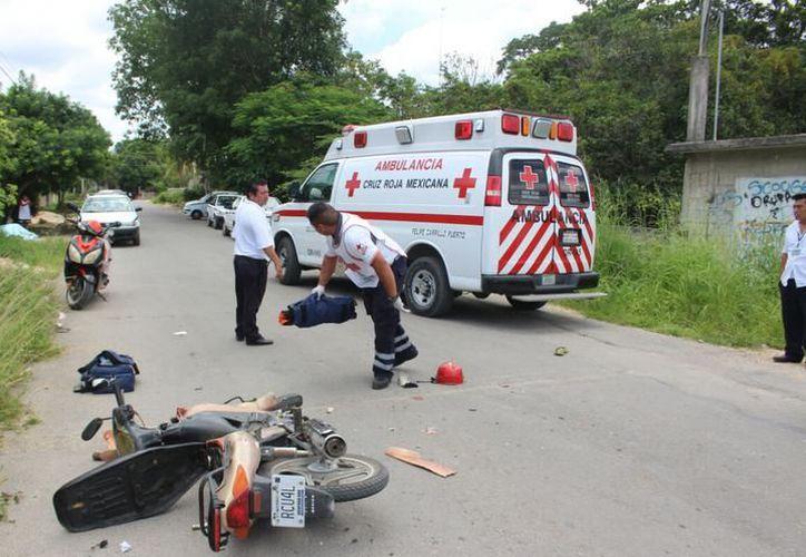 Durante las vacaciones, los servicios de emergencia en la zona sur del Estado son hasta 70 por día. (Archivo/SIPSE)