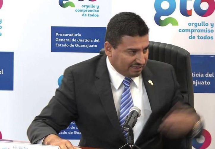 El procurador guanajuatense, Carlos Zamarripa, confirmó el levantón de siete jóvenes el viernes pasado en el municipio de Salamanca. (Agencias)