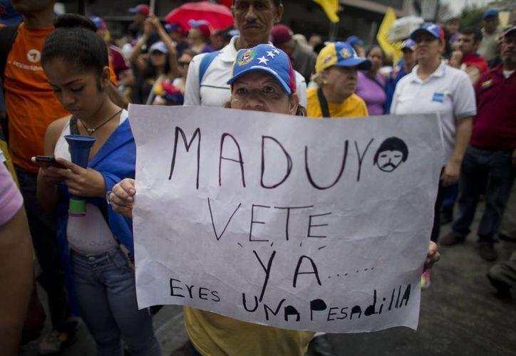La principal exigencia de la oposición es un cronograma para la realización del referéndum revocatorio al mandato de Nicolás Maduro. (Archivo/Agencias)