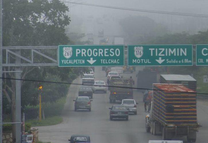 La neblina de esta mañana fue un anticipo del calor que predomina este miércoles. (Juan Carlos Albornoz/SIPSE)